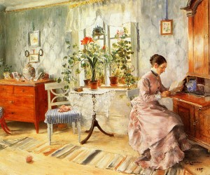 carl-larsson-an-interior-with-a-woman-reading