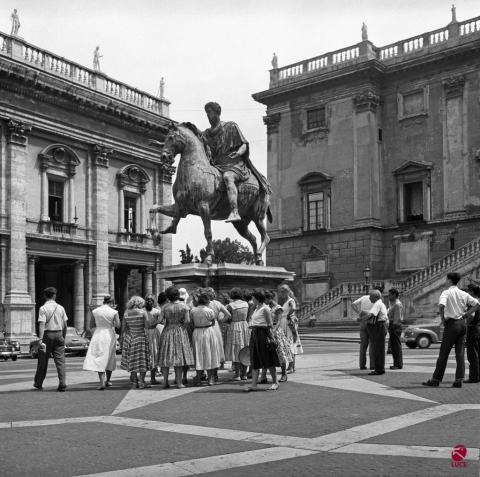 Piazza del Campidoglio, Roma 1956