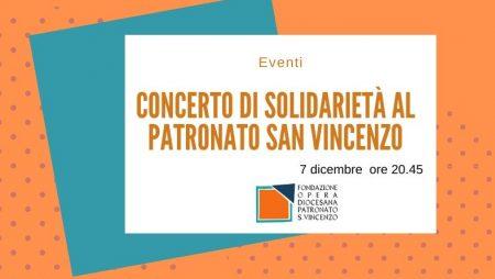 Concerto di solidarietà al Patronato San Vincenzo