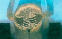 dettaglio di un dipinto di Aracabas - il Sole nel ventre