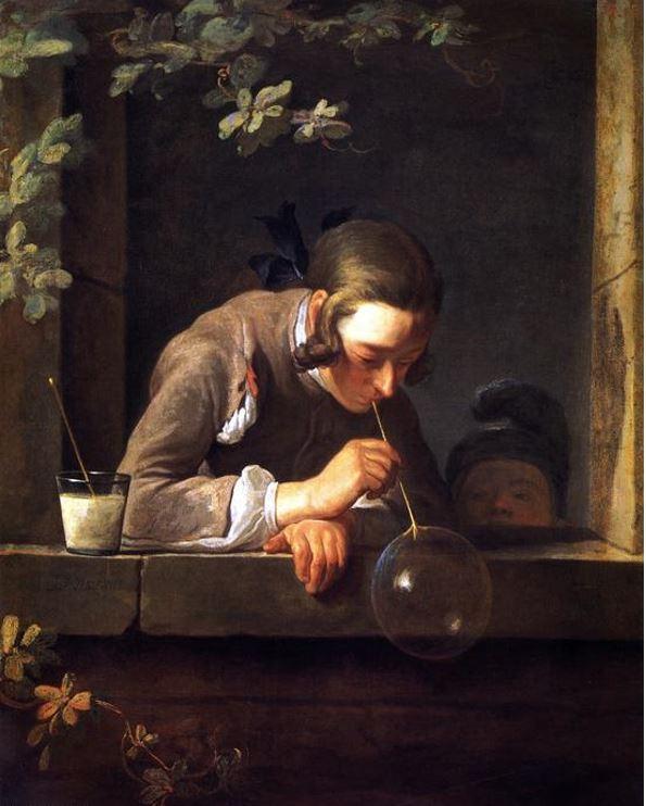 JEAN-BAPTISTE SIMEON CHARDIN: BOLLE DI SAPONE 1735 - Olio su tela - 93 x 74 cm - National Gallery of Art – Washington USA