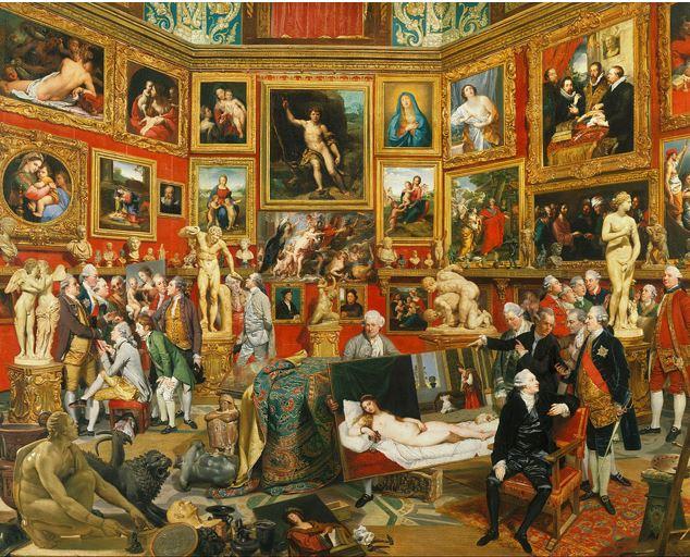 JOHAN ZOFFANY - TRIBUNA DEGLI UFFIZI tra il 1772 e il 1777 – Olio su tela - 123,5 x 155 cm- Royal Collection Londra